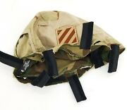 3rd Infantry Division Msa Mich Reversible Helmet Cover And Patch Medium/large