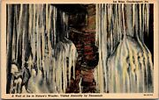 Vtg 1930and039s Wall In The Ice Mine Coudersport Pennsylvania Pa Postcard