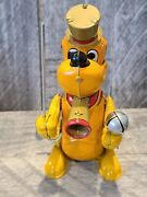 Disney Pluto The Drum Major Marx Linemar Toys Wind Up Tin Toy Working