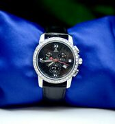Menand039s Jacob And Co Chrnograph Watch Stainless Steel W/diamond Bezel