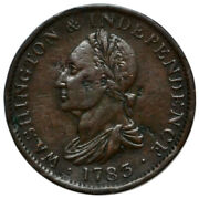 Us Colonial 1783 No Button Washington And Independence Token