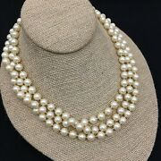 Vintage Marvella High Quality Faux Pearl 52 Strand Necklace Costume Jewelry