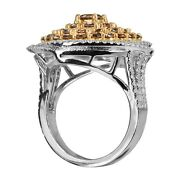 Fashion Ring 14k White Gold With 3.55ct Color Diamonds