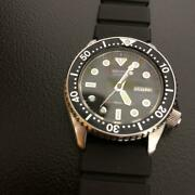 Seiko Vintage Diver Day Date Stainless Steel Used Quartz Mens Watch Auth Works