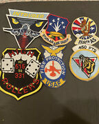 Lot Of 6 Vintage Air Force Squadron Patches