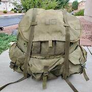 Lc-1 Combat Field Pack U.s. Military Alice Backpack External Frame Army Marines
