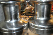 Pair Of Barient 22 Stainless Steel 2 Speed Sailboat Winches