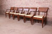 Baker Furniture French Regency Walnut Dining Chairs Newly Refinished