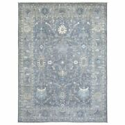 8and0398x11and0395 Hand Knotted Gray Afghan Peshawar Pure Wool Oriental Rug G68754
