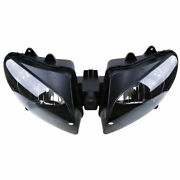Fit For Yamaha Yzf R1 2000 2001 Black Motorcycle Headlight Housing Clear Lamp