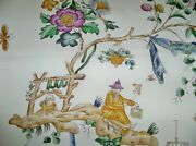 Cowtan And Tout Whimsical Pagodas Chinoiserie Toile Fabric 10 Yards Plum Blue