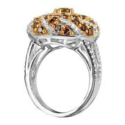 Fashion Ring 14k White Gold With 3.00ct Color Diamonds