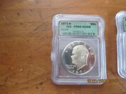 1971-s 1972s And 1974s Icg Pr69 Dcam Silver Eisenhower Proof Dollar 3 Coins