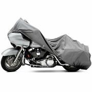 4 Layer Motorcycle Dust Cover Grey X-large 107 Length Winter Storage Protection