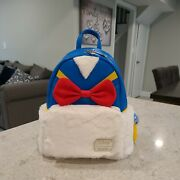 Loungefly Disney Donald Duck Fuzzy Mini Backpack - New With Tags Nwt
