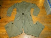 Vintage Wwii Us Army Military Hbt 13 Star Button Uniform Suit Coverall. Sz.40