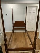 Baker Furniture Mahogany Four Poster Twin Size Bed Rare