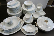 Haviland And Co Limoges Schleiger 70a Place Setting For 6 And Extras Total 78 Pieces