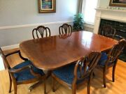 Duncan Phyfe Style Dining Table And Chairs By Ardley Hall