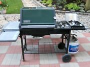 Weber Gas Grill Genesis Silver C With Side Burner And Propane Tank And Cover