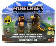Minecraft Craft-a-block Wandering Trader And Llama Action Figure 2-pack-free Ship