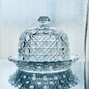 Used Old Baccarat Diamant Pierreries Cake Stand With Lid Cake Holder Very Rare