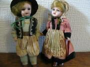 Used 1900s Bisque Compo Dolls Sfbj French Mignonette Unis 301 Boy Girl Doll