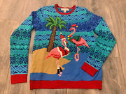 Jolly Sweaters Flamingos Santa Hats Beach Ugly Christmas Sweater Party Light Up