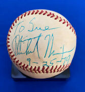 President Richard Nixon In-person Signed And Dated Baseball From 1979 Psa/dna