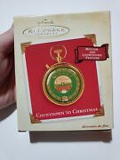 New Hallmark Christmas Motion And Countdown Feature Ornament Santa Pocket Watch