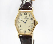 Dunhill Reprint Centenary Collection Octagonal K18 Menand039s Watch From Japan[u0722]