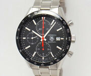 Tag Heuer Carrera Chronograph Cv2014-1 Stainless Automatic Menand039s Watch [u0722]