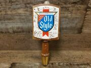 Vintage Heilemanandrsquos Wooden Screw On Old Style Beer Tap Handle