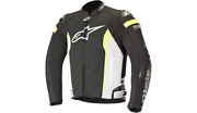 New Alpinestars Motorcycle T-missile Air Jacket Black/white/yellow Adult Xl Xlg