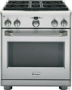 Monogram Zgp304lrss 30 Inch Pro-style All-gas Range 4 Sealed Dual-flame Stainles