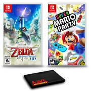 The Legend Of Zelda Skyward Sword Hd And Super Mario Party - Two Game Bundle