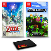 The Legend Of Zelda Skyward Sword Hd And Minecraft - Two Game Bundle For
