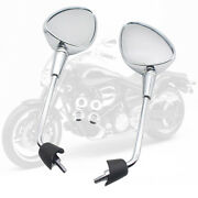 1 Pair Rearview Mirrors For Vespa Gt Gts Gtv 50 125 200 Accessories Silver
