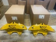 New Genuine Gm 09-14 Cadillac Cts-v Brembo Yellow 6 Piston Front Calipers Ctsv