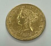 1893 10 Dollar Liberty Head Eagle Gold Coin Great Condition