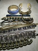 Bracelet Lot 15 Gold And Silver Assorted Braceletsvintage To Now Jewelry