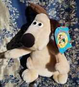 Vintage 1989 Aardman Wallace And Gromit Dog Plush With Tags