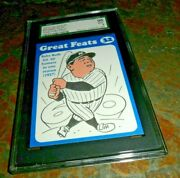 1972 Babe Ruth Ny Yankees Laughlin Great Feats Blue 32 Mint Sgc 96 = To Psa 9