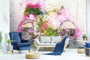3d Watercolor Bicycle O523 Transport Wallpaper Mural Self-adhesive Removable Amy