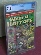 Weird Horrors 2 Cgc Graded 7.5 White Pages 1952