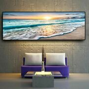 Sea Beach Landscape Poster Print Canvas Painting Wall Art Pictures Home Decor