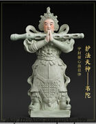 Chinese Porcelain South India Wei Tuo Building To Buddha General Wei Tian Statue