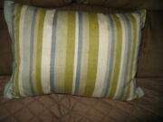 Pier 1 Imports Rectangle Accent Pillow 18and039and039x12and039and039 Multi Stripe Zipper