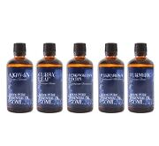 Mystic Moments Gift Starter Pack Of 5x50ml Essential Oils Of India Sp50eoindi