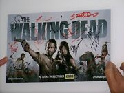 2013 Sdcc The Walking Dead Signed Poster Great Shape
